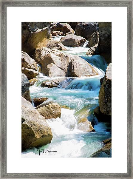 Mountain Spring Water Framed Print