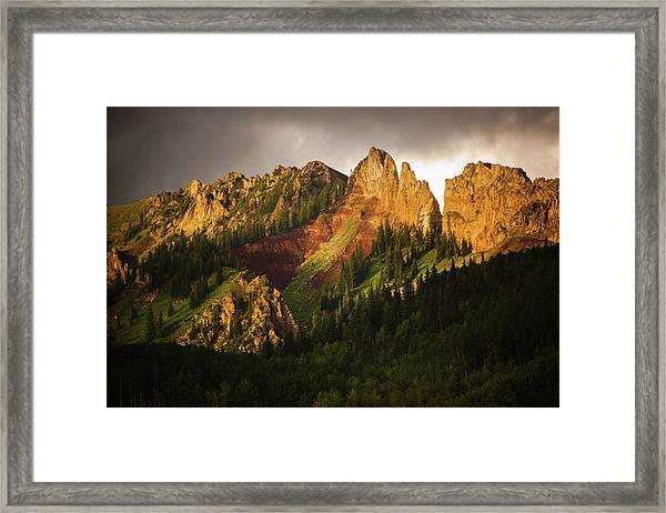 Mountain Storm Light Framed Print
