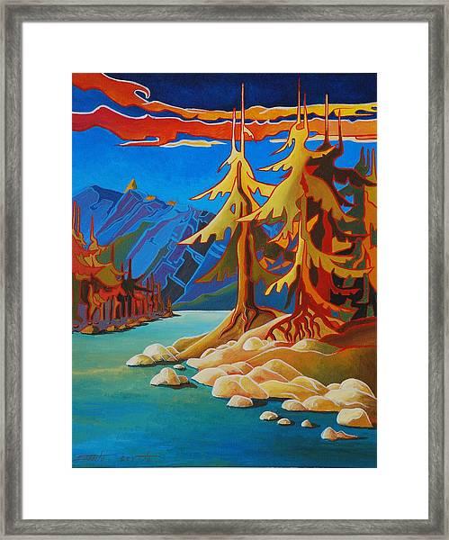 Mountain Stream Framed Print by Santo De Vita
