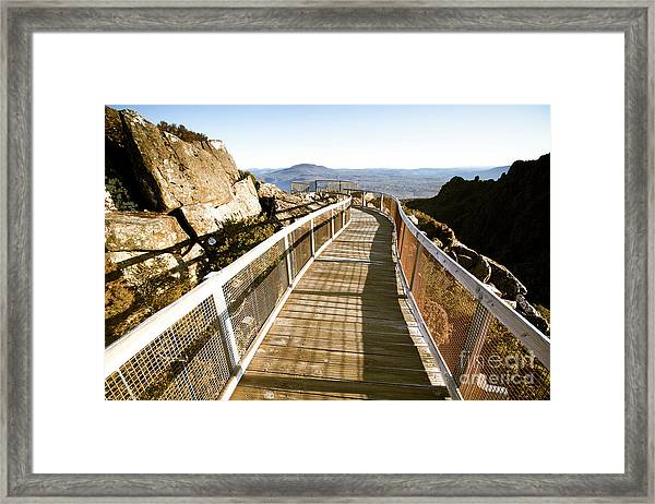 Mountain Summit Lookout Framed Print