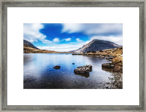 Framed Print featuring the photograph Mountain View by Nick Bywater