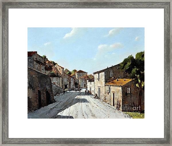 Mountain Village Main Street Framed Print