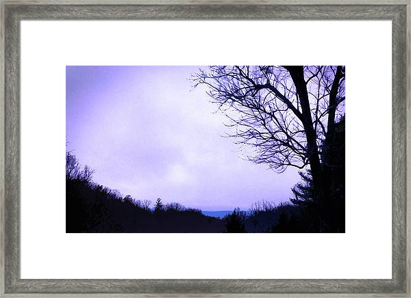 Framed Print featuring the digital art Mountain Vista by Gina Harrison