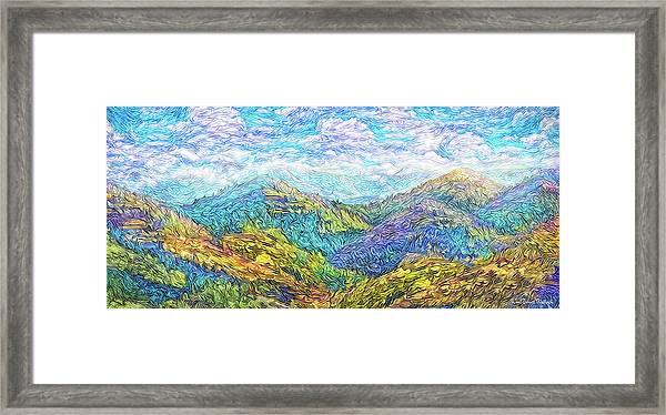 Mountain Waves - Boulder Colorado Vista Framed Print