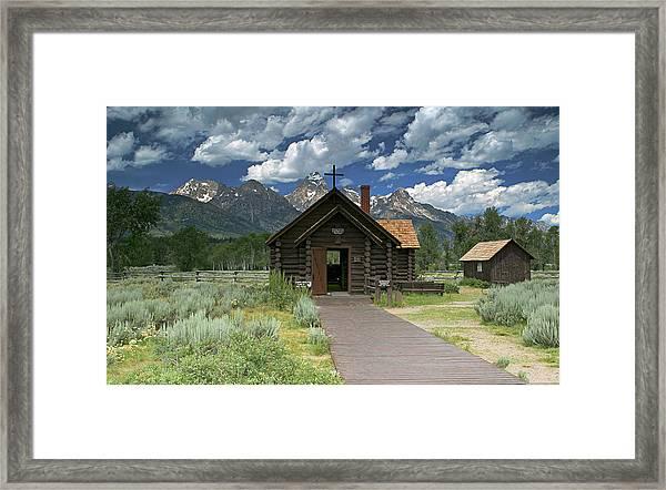 Mountain Worship Framed Print