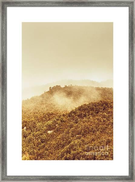 Mountainous Tasmanian Mist Framed Print