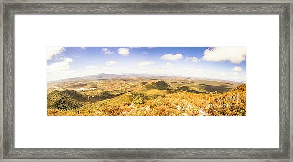 Mountains And Open Spaces Framed Print