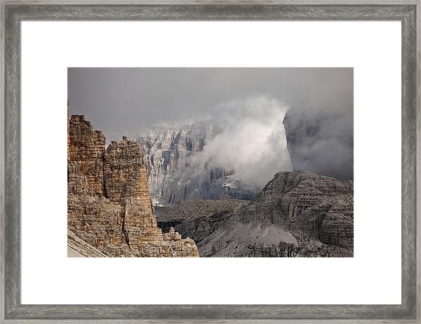 Mountains Depth 1150 Framed Print