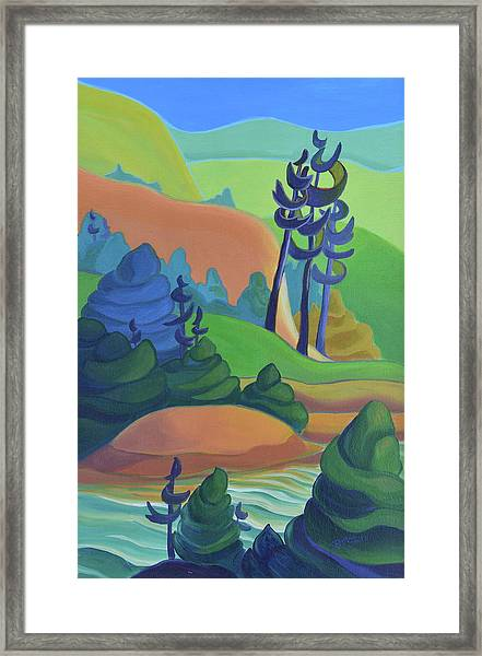 Hills In Spring Framed Print