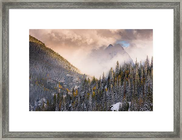 Mountains Light Framed Print