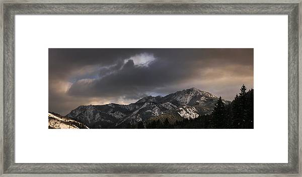 Mountian Light Framed Print