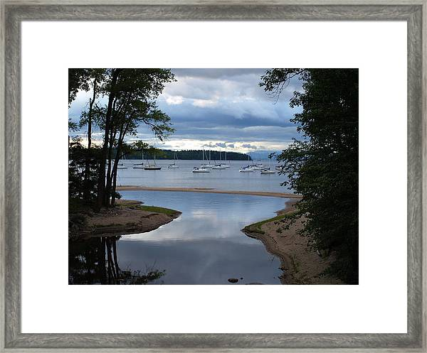 Mouth Of The Salmon River Framed Print