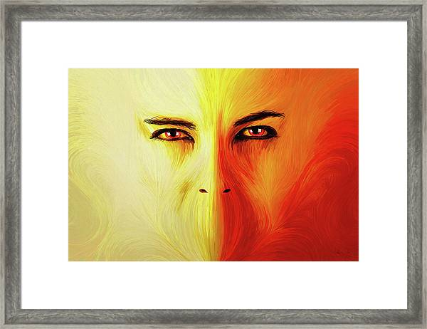 Mouthless Framed Print