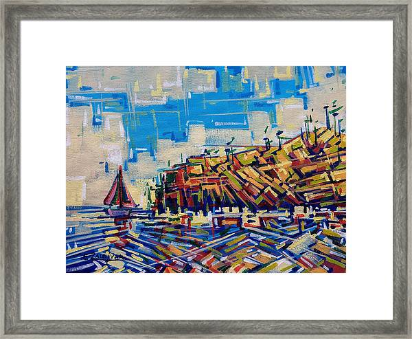 Moved By The Wind Framed Print