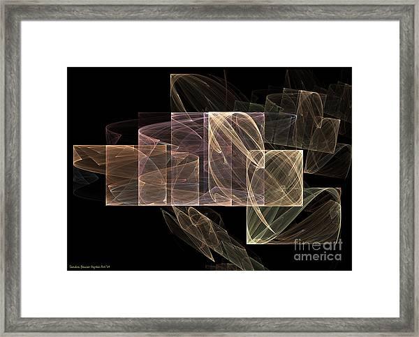 Framed Print featuring the digital art Movement And Light by Sandra Bauser Digital Art