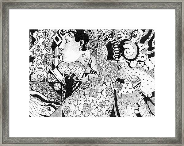 Moving In Circles Framed Print