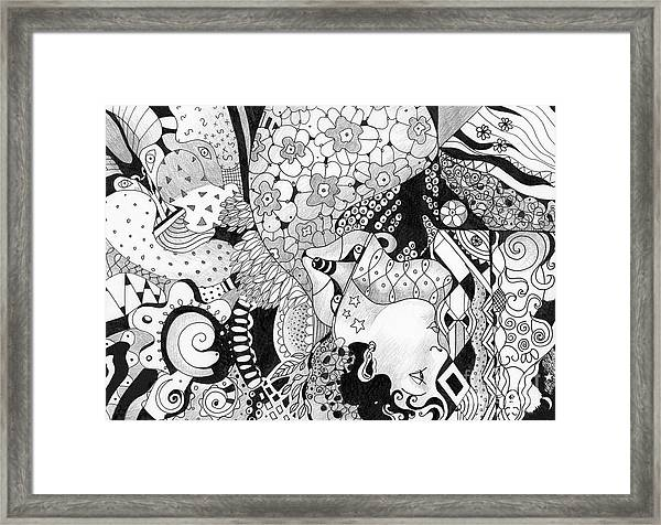 Moving In Circles - The Other Way Around Framed Print
