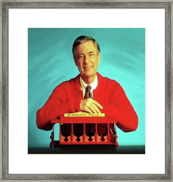 Mr Rogers With Trolley Framed Print