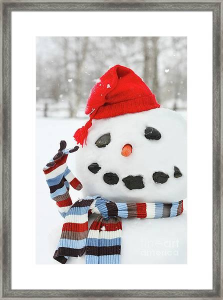 Mr. Snowman Framed Print