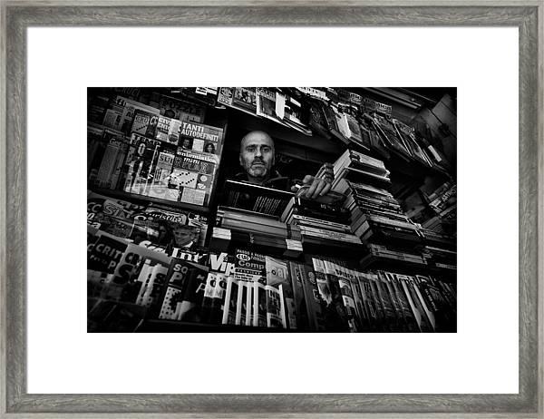 Mr. Valentino Framed Print