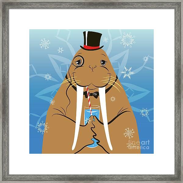 Mr. Walrus Framed Print