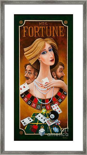Mrs Fortune Framed Print
