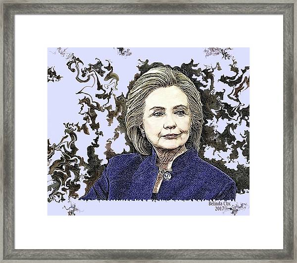 Mrs Hillary Clinton Framed Print