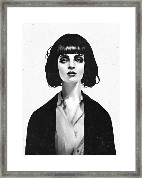 Mrs Mia Wallace Framed Print