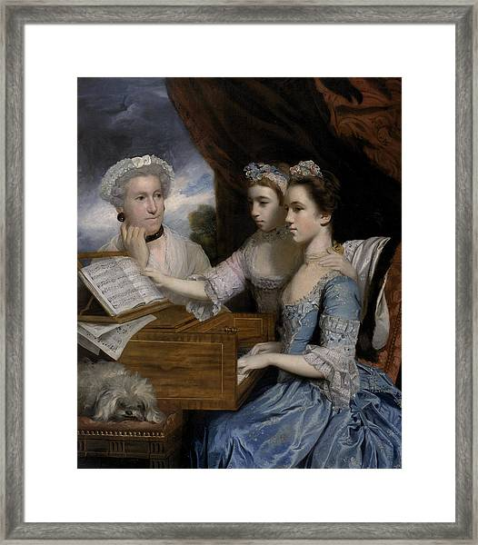 Mrs Paine And The Misses Paine Framed Print