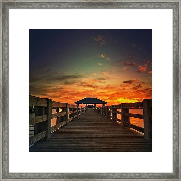 Ms Gulf Coast Sunset💖 #visitms Framed Print