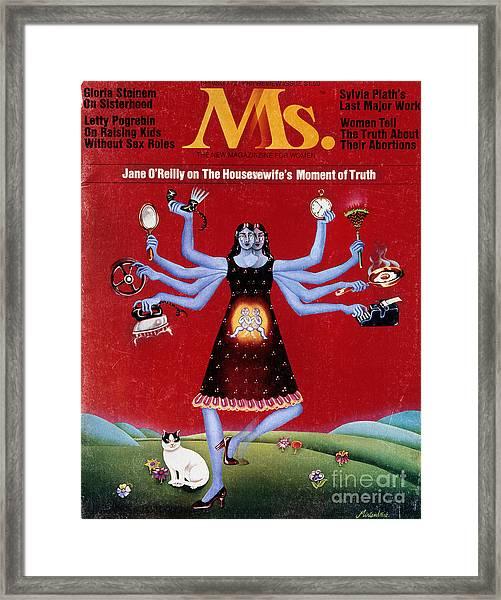 Ms. Magazine, 1972 Framed Print