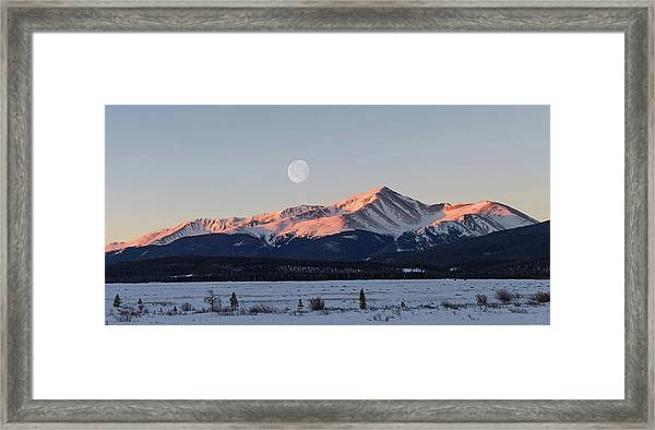 Mt. Elbert Sunrise Framed Print