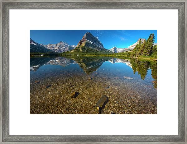 Mt. Grinnell Framed Print