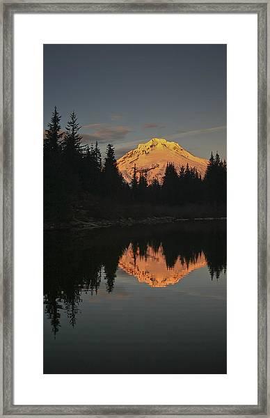 Mt Hood Alpenglow II Framed Print