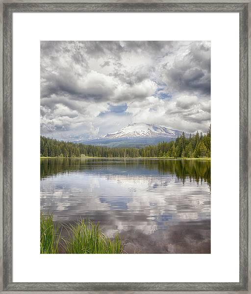Mt Hood From Trilliam Lake Framed Print