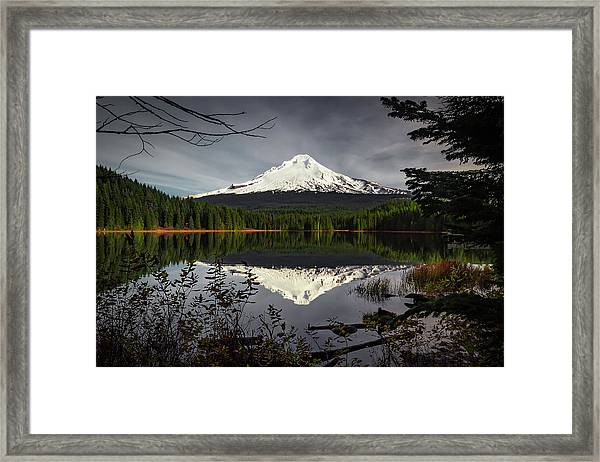 Mt Hood Reflection Framed Print