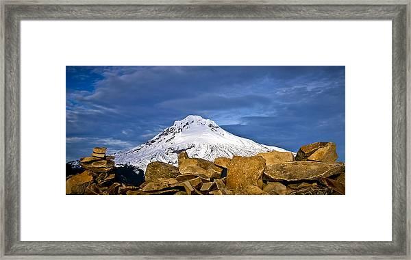 Mt Hood With Talus Framed Print