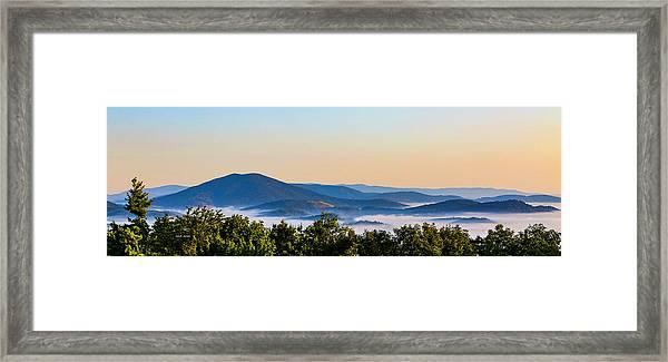 Mt. Jefferson Cloud Lake Framed Print
