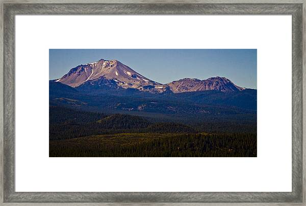 Mt Lassen And Chaos Crags Framed Print