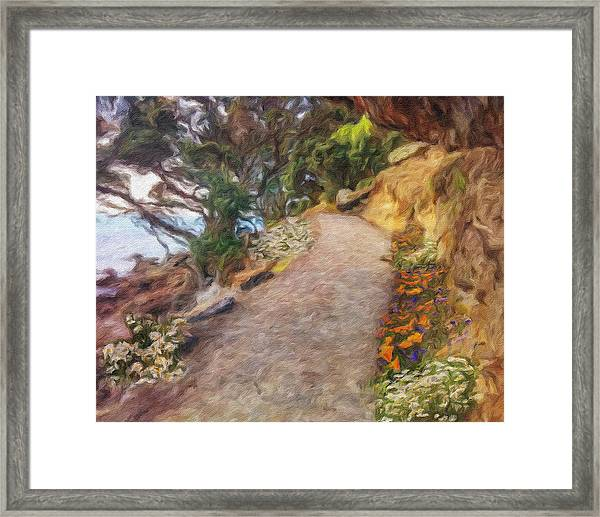 Mt. Maunganui Base Walk Framed Print