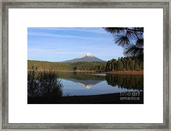 Mt Mclaughlin Or Pitt Framed Print