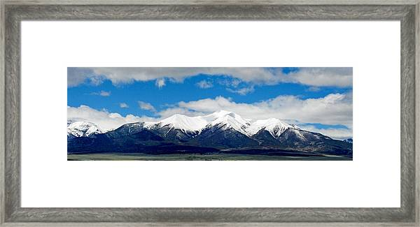 Mt. Princeton Colorado Framed Print