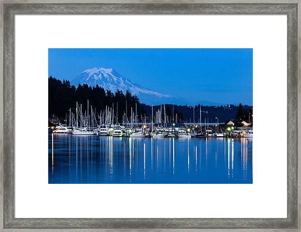 Mt. Rainier From Gig Harbor Framed Print