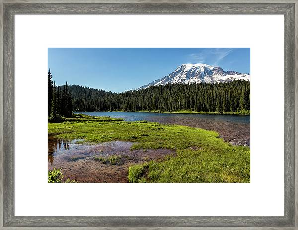 Mt Rainier From Reflection Lake, No. 2 Framed Print