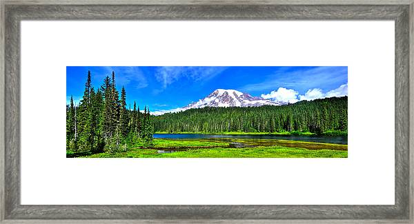 Mt. Rainier From Reflection Lakes Framed Print