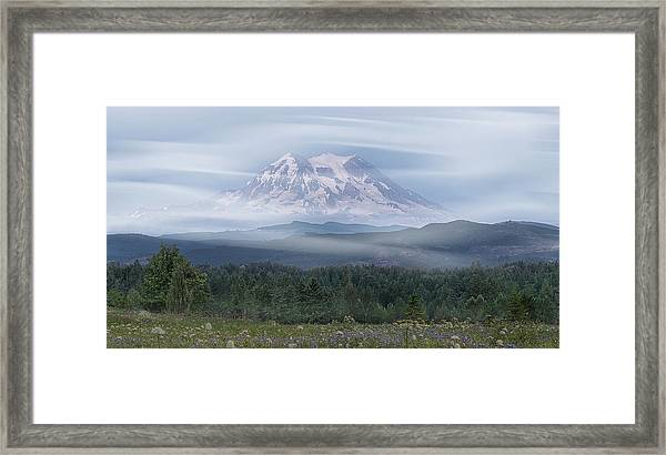Framed Print featuring the photograph Mt. Rainier by Patti Deters