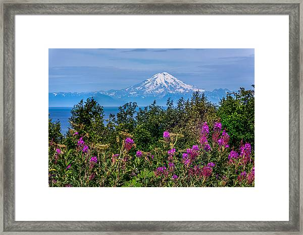 Framed Print featuring the photograph Mt. Redoubt by Claudia Abbott