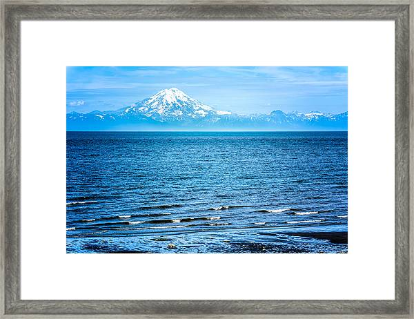 Framed Print featuring the photograph Mt. Redoubt Cooke Inlet by Claudia Abbott
