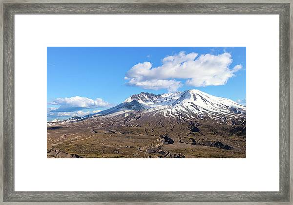 Mt Saint Helens Framed Print