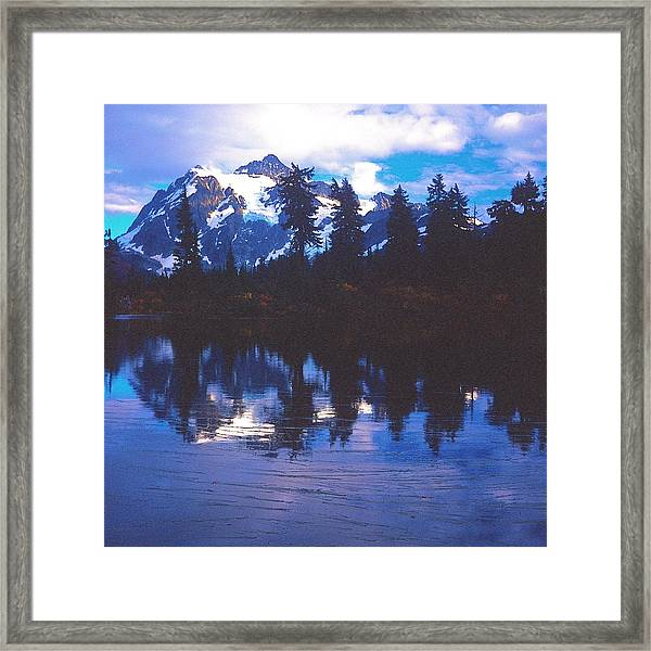 Mt. Shuksan - Picture Lake Framed Print